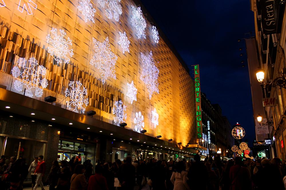 Christmas in madrid venga vale vamos - El corte ingles puerta del sol ...