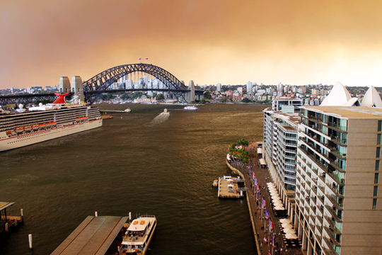 Quite a different view from my apartment with Sydney flooded with smoke.