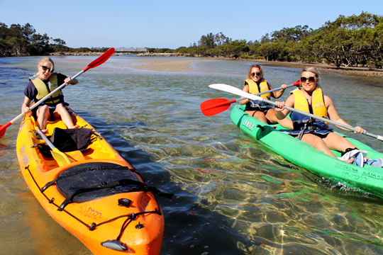 Kayaking in Bundeena. Check out those deep waters, those rough rapids.