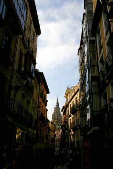 Toledo's narrow streets