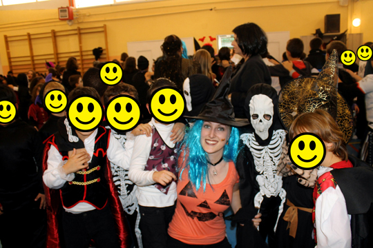 Halloween with students in Spain