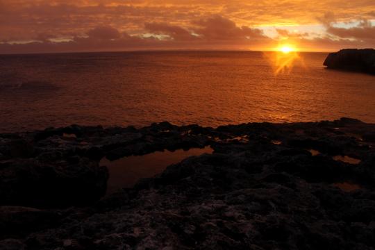 Menorca, Spain sunset