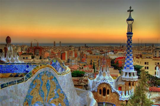 Park Guell, Gaudi, Barcelona, Spain
