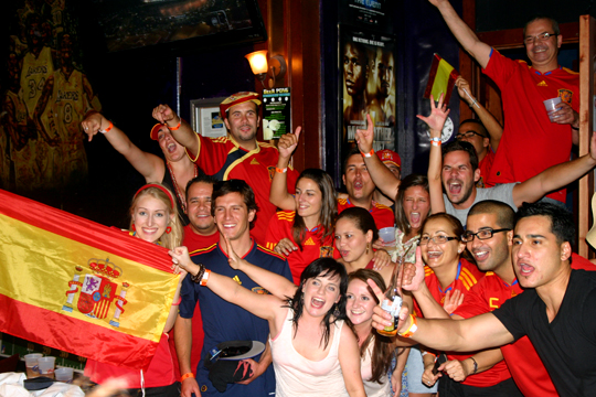 2010 World Cup Spain Fans Las Vegas