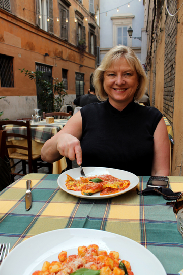 A picturesque lunch in Trastevere