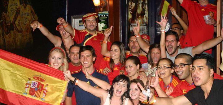 2010 World Cup Spain Fans Las Vegas