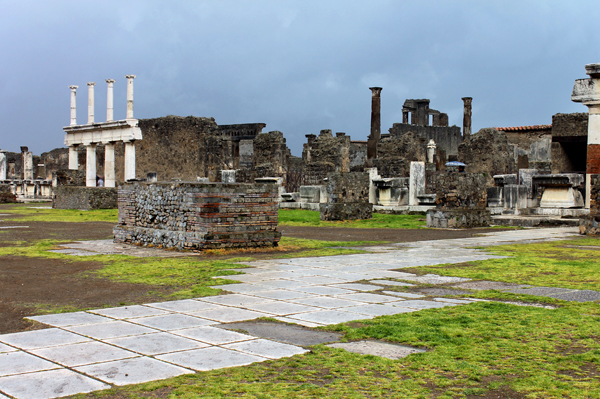 A gloomy day at Pompeii