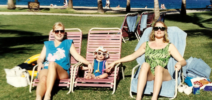 Just chillin' like a villain in Maui as a wee one.