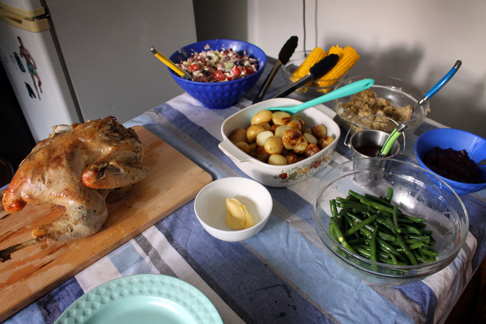 This year's Thanksgiving feast down under