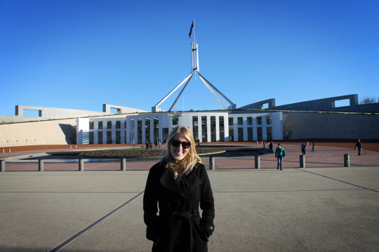 Partying with Tony Abbott at Australian Parliament in Canberra