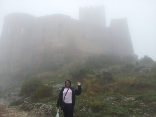 Betty in Loarre, a town in Huesca Province (Aragón) with one of the best-preserved Medieval castles in Europe