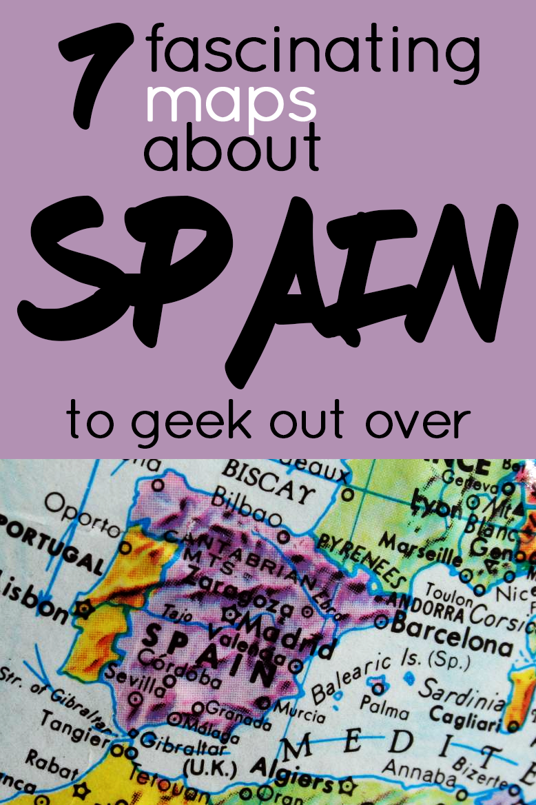 From historical maps to demographics to fun facts you never knew, here are some of the coolest maps of Spain that will change the way you see the country.