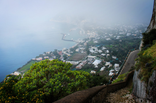 The view from a cliff-hugging path we found in Anacapri