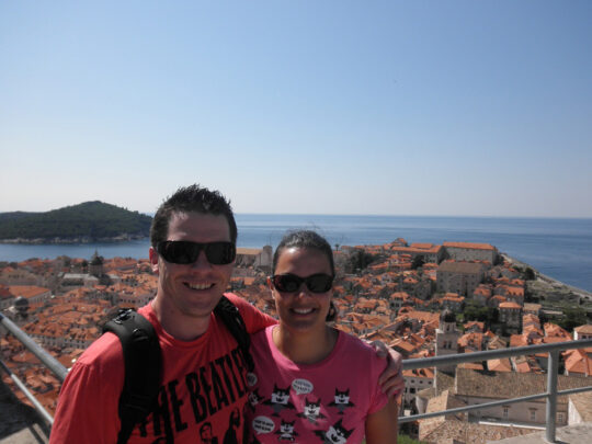 Roshan on her honeymoon in Dubrovnik, Croatia