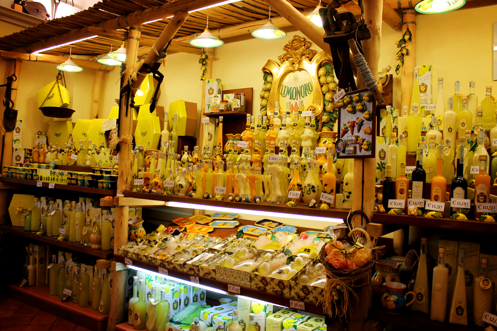Limoncello in Sorrento, Italy