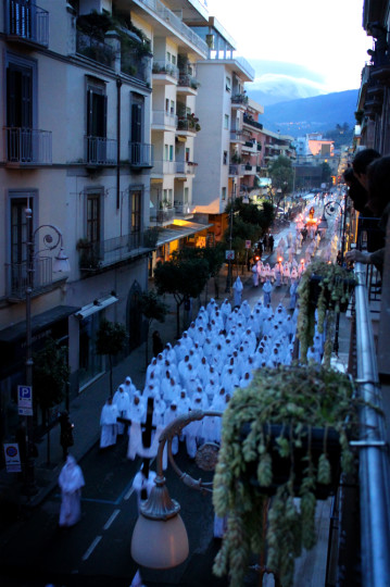 Easter Week procession in Sorrento, Italy