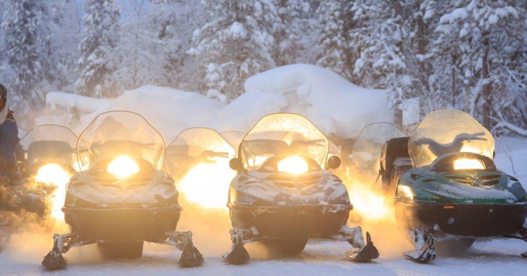 Snowmobile, Lapland, Finland