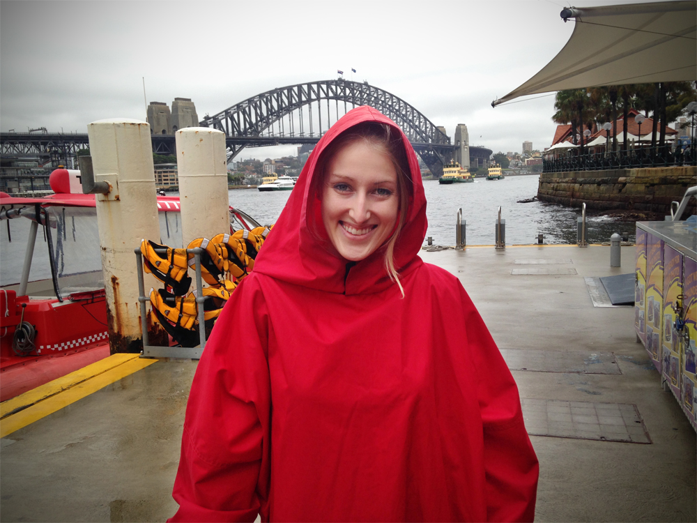 Looking fly in my poncho.