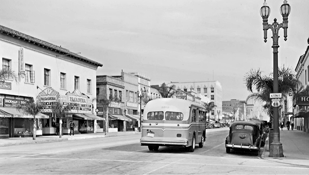 Old Town Pasadena, California, 1940