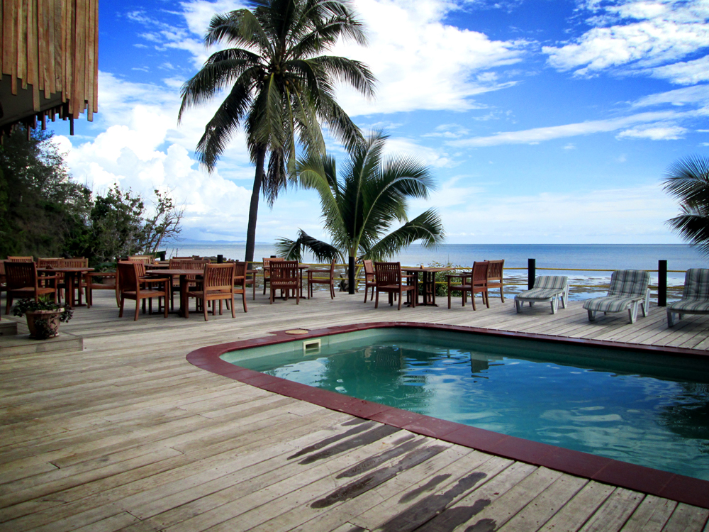 Funky Fish Resort pool, Fiji