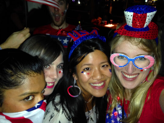 Four Americans or a Kiwi, two Aussies, and an American? You decide.
