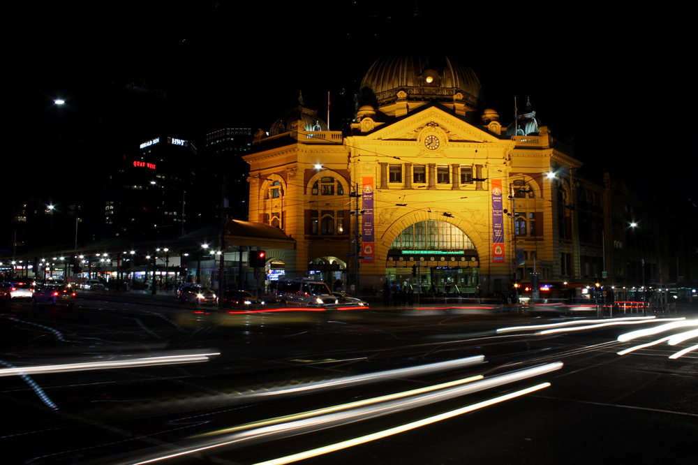 Playing with long exposures in Melbourne with the help of my Gorilla Pod