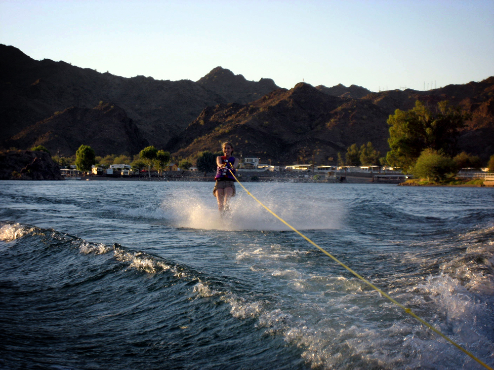 Waterskiing, Colorado River