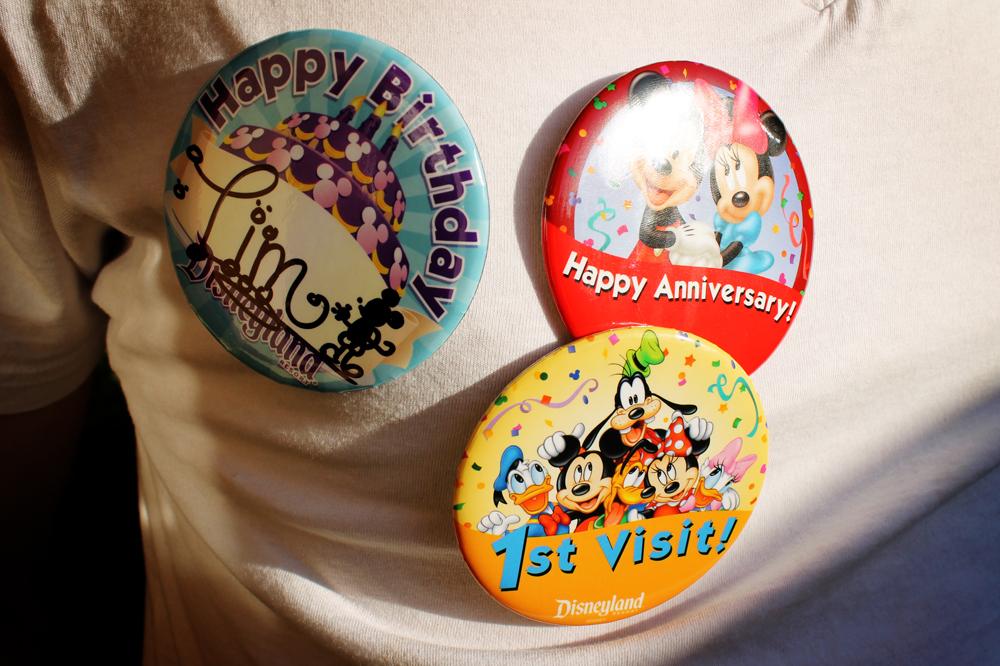 Disneyland buttons