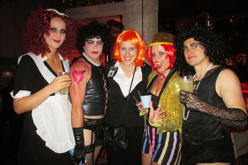 As a long-time Rocky Horror fan, I forced these guys at last year's party to take a photo with me