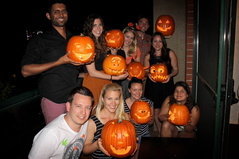 Pumpkin carving party, Sydney
