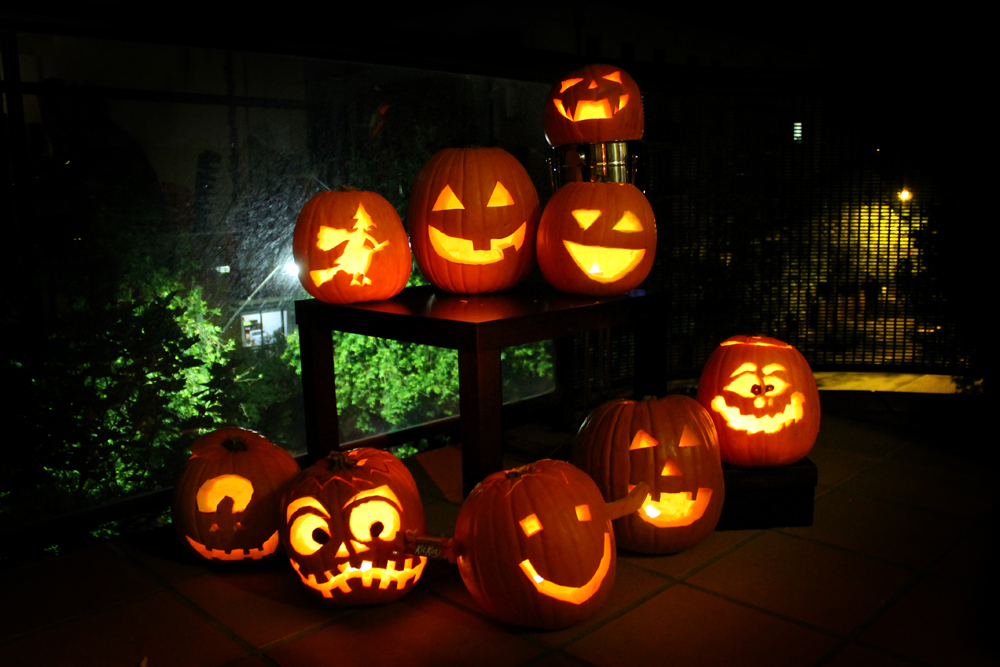Pumpkins carved by my Sydney friends this weekend