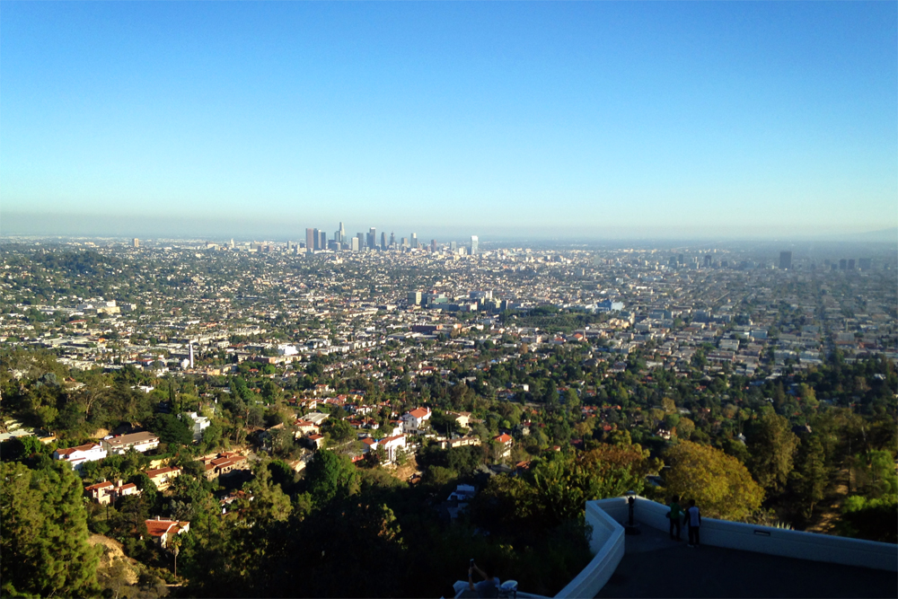 Griffith Observatory view of Los Angeles