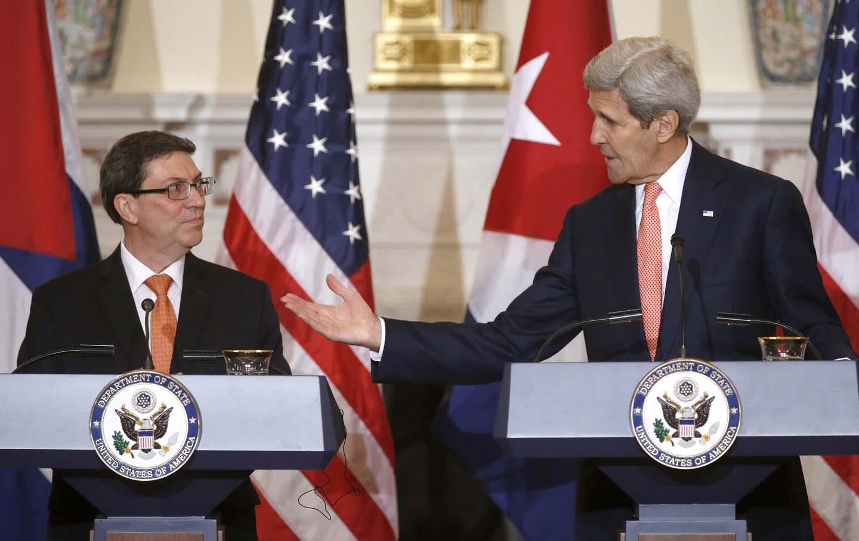 John Kerry, Bruno Rodriguez, Cuba