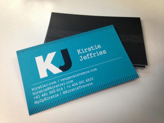 Kirstie Jeffries business cards