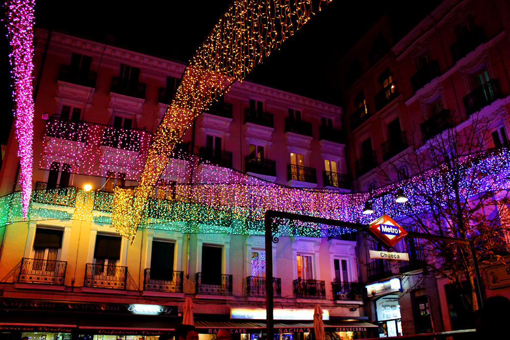 Chueca, Madrid Christmas lights