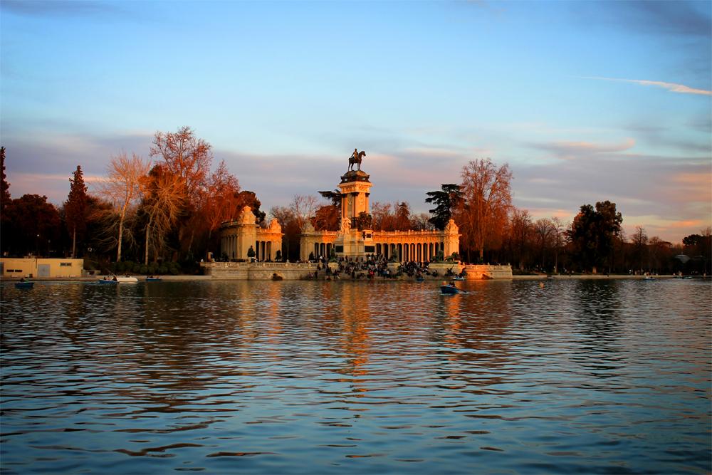 Parque del Retiro, Madrid winter