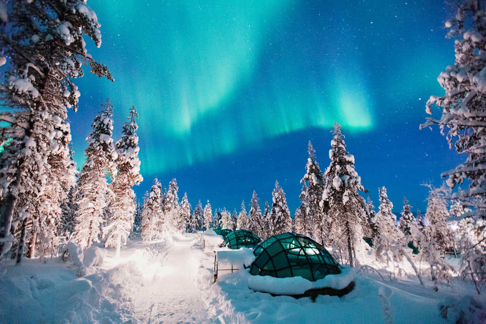 Kakslauttanen Arctic Resort, Finland, Northern Lights