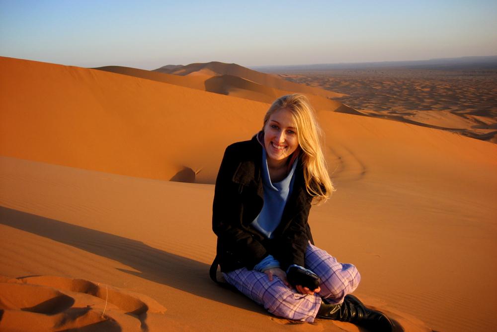 Kirstie, Sahara Desert, Morocco