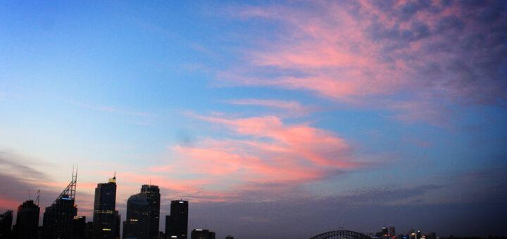 Sydney, Australia skyline sunset