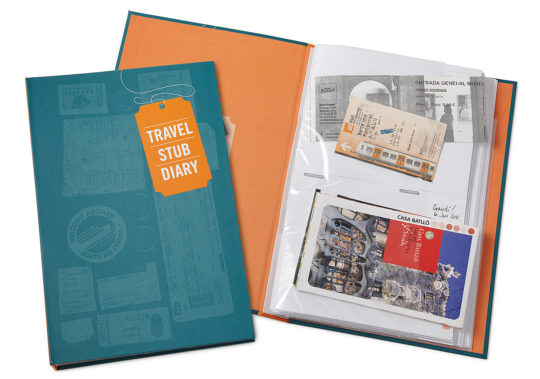 Travel gifts - travel stub diary