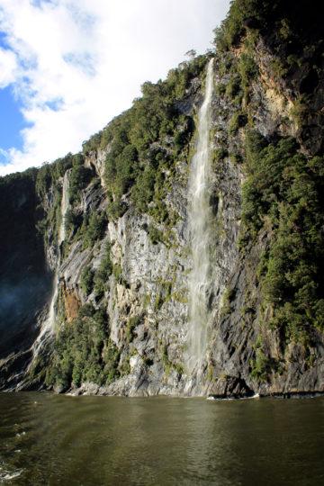 Milford Sound waterfalls, New Zealand