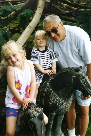 In Hawaii at an early age with my sister and grandpa. He even went by the Hawaiian word for grandpa, Tutu