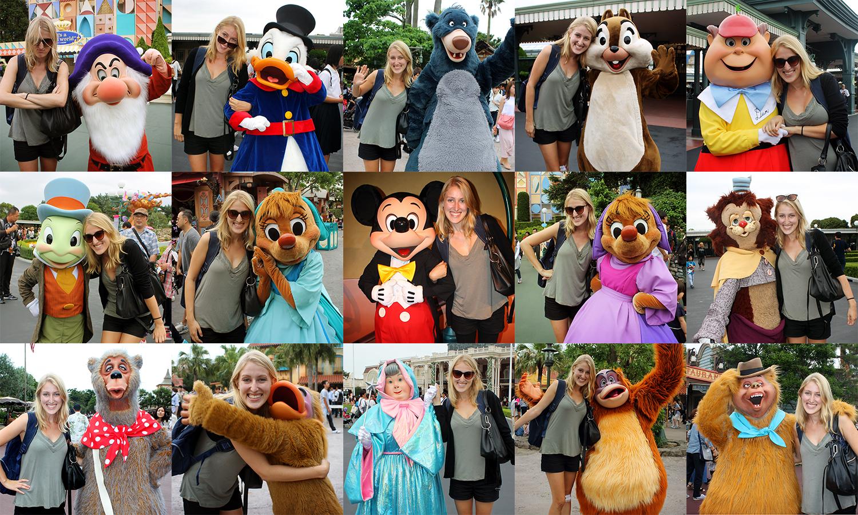Tokyo Disneyland characters