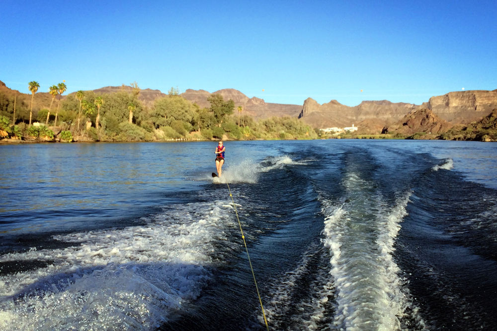 Waterskiing, Colorado River, Parker, Arizona