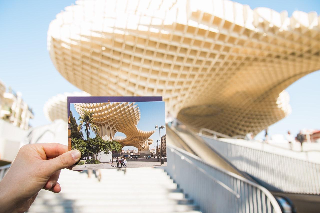Postcards travel decor