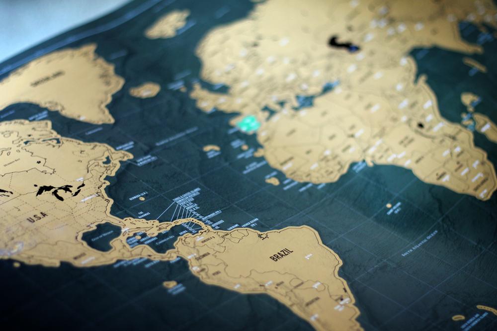 Scratch map