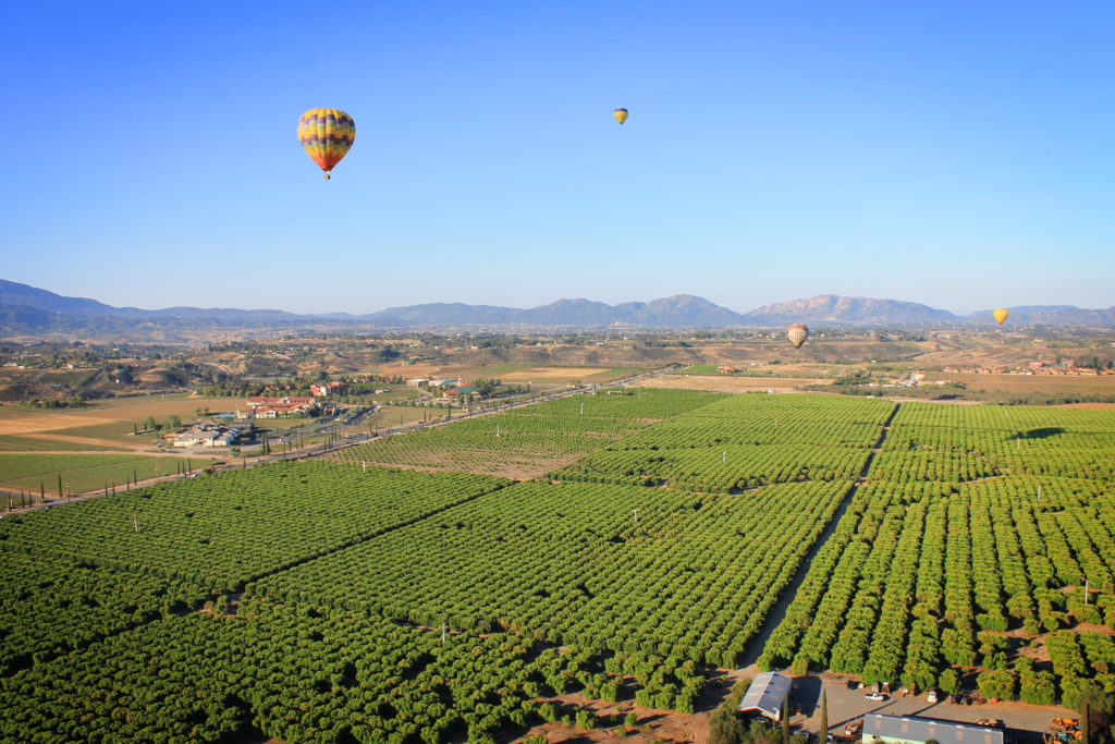 Hot air balloon ride, Pechanga