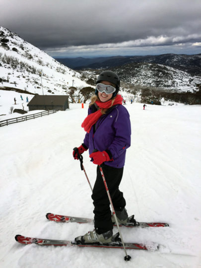 Skiing, winter holidays