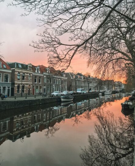 Haarlem, Netherlands sunset