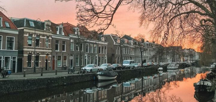 Haarlem, Netherlands sunset